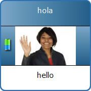 Wordplay is a simple game that makes it really easy to learn and remember Spanish words and phrases.
