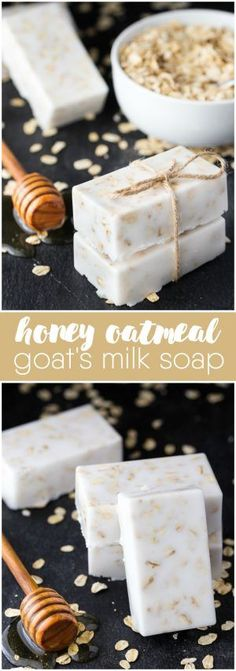Honey Oatmeal Goat's Milk Soap - Your skin will feel amazing after washing with this simple DIY soap. Honey and oats are the perfect combination to combat dry, sensitive skin. #sensitiveskincarediy