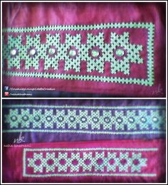 Patch Work for Neck & Border of a Kurti :)