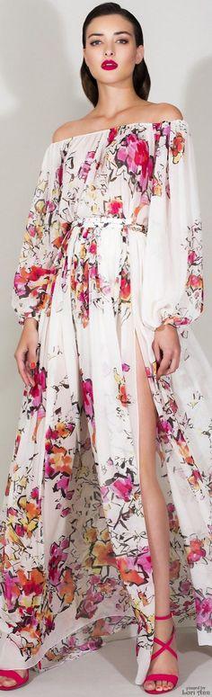 Zuhair Murad Resort 2016 Fashion Show Fashion Week, Look Fashion, Runway Fashion, High Fashion, Fashion Show, Womens Fashion, Fashion Design, Zuhair Murad, Traje A Rigor