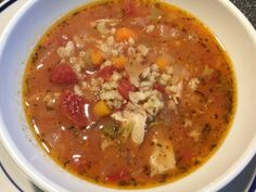 Chunky and hearty soup. You can sub out the barley for quinoa and the turkey for chicken if you like. Chunky and hearty soup. You can sub out the barley for quinoa and the turkey for chicken if you like. Chicken Barley Soup, Cooking Beef Tenderloin, Turkey Tenderloin, Cooking Meme, Cooking Recipes, Best Turkey Recipe, How To Cook Barley, Vegetable Soup With Chicken