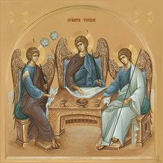 Byzantine Icons, Byzantine Art, Religious Icons, Religious Art, Trinidad, Orthodox Christianity, Art Moderne, Orthodox Icons, Mother Mary
