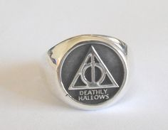 Solid Sterling Silver 925 Harry Potter Deathly Hallows Ring