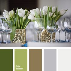 Sophisticated palette in a classic style can be used to design a wedding or any festive event. Mustard-green decor will look very stylish, especially nicel.
