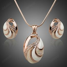 Cheap jewelry necklace, Buy Quality jewelry 925 directly from China jewelry women Suppliers: Hot Selling Fashion Opal Pendant and Earrings Sets Gold Plated Imitation Je Cheap Jewelry, Jewelry Sets, Jewelry Stores, Women Jewelry, Jewelry Watches, Fine Jewelry, Jewelry Websites, Jewelry Making, Unique Jewelry