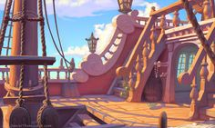 All rights reserved. Cartoon Background, Game Background, Animation Background, Pirate Cartoon, Boat Cartoon, Environment Concept Art, Environment Design, Bg Design, Game Design