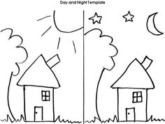 day and night pictures for kindergarten day and night worksheet places to visit pinterest. Black Bedroom Furniture Sets. Home Design Ideas
