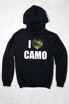 Relaxed Pullover Hoodie CG - I Heart Camo