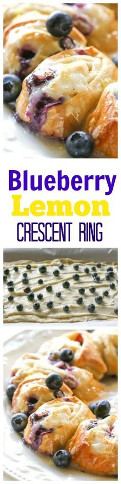 Lemon Crescent Ring Blueberry Lemon Crescent Ring - an easy breakfast that's so good!Blueberry Lemon Crescent Ring - an easy breakfast that's so good! Köstliche Desserts, Delicious Desserts, Dessert Recipes, Yummy Food, Easter Recipes, Frozen Desserts, Brunch Recipes, Breakfast Recipes, Blueberry Breakfast