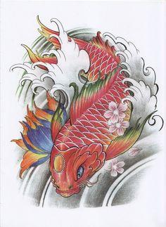 New tattoo designs sketches rose Ideas Koi Tattoo Design, New Tattoo Designs, Japanese Tattoo Designs, Japanese Koi Fish Tattoo, Koi Fish Drawing, Koi Tattoo Sleeve, Tattoo Painting, Koi Dragon, Small Dragon Tattoos