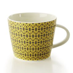 Scion's Lace mug features a symmetrical, interlocking geometric motif with the appearance of lace!