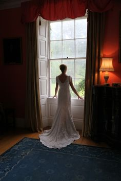 Bride in window light at Ashbrook