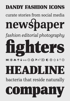 PF DIN Serif on Behance