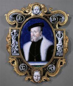 Leonard Limosin | Portrait of the Constable Anne de Montmorency (1493-1567) | Images of Art