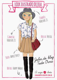 Outfit of the day illustration Julia - Blog Tudo Orna