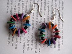Aretes cortos / Short earrings #custome #jewelry #designer #earrings