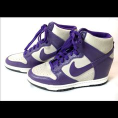 b146a7256e5 Nike Dunk Sky Hi Purple Womans Size 7 These are rare purple Nike sky hi  dunks