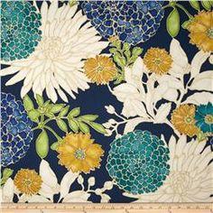 Richloom St. Moritz Floral Twill Carribbean