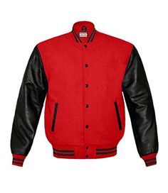 Superb Genuine Leather Sleeve Letterman College Varsity Women Wool Jackets at…