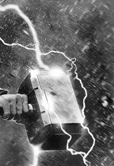 """Mjölnir AKA """"thor's hammer"""" is the hammer of Thor forged by the dwarven brothers Sindri and Brokkr, a legendary weapon associated with thunder in Norse mythology. Mjölnir is depicted in Norse mythology as one of the most fearsome weapons, capable of leveling mountains."""