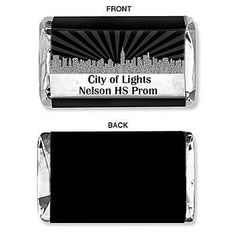 ***PERSONALIZE TO SAY MYAH AROUND THE WORLD. Our exclusive Personalized City Skyline Mini Candy Bar Wrapper features a city skyline design. Each City Skyline Candy Bar Wrapper measures 3 1/4 inches high.