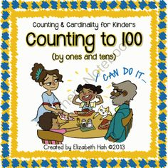 Counting and Cardinality for Kinders: Counting to 100 by ones and tens from Elizabeth Hah on TeachersNotebook.com -  (67 pages)  - Counting to 100 by ones and tens with number puzzles, fun counting ideas and posters, poetry and awards.