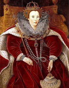 A portrait I haven't seen before of Queen Elizabeth I by Marcus Gheeraerts the Younger. The Queen is painted in her Parliament Robes
