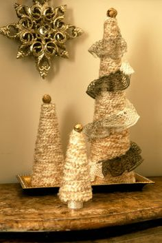 1000 images about yarn cones on pinterest yarns cone for Michaels crafts christmas trees