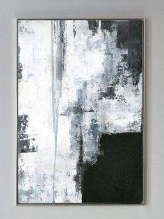 Oversize Silvery Abstract Painting,Black And White,Large Abstract Original Painting,Wall Painting Fo Abstract Landscape Painting, Abstract Canvas, Landscape Paintings, Art Paintings, Large Canvas Art, Indian Paintings, Abstract Paintings, Watercolor Painting, Black And White Wall Art