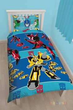 Transformers Disguise Single Duvet Cover and Pillowcase Set & Transformers room :) | Kids rooms | Pinterest | Room Bedrooms and ...