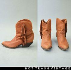 ZODIAC Festival Fringe Ankle Boots 8