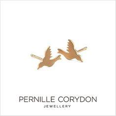 PERNILLECORYDONペニーレコリドン【e-300-gp】HummingbirdEarsticksize8mmハミングバードイヤースティックピアスイヤリング18kgolddippedゴールドプレゼント