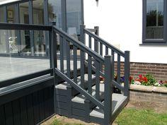 diy wood plastic hand railing outdoor in UK, using wood plastic for railings outdoors