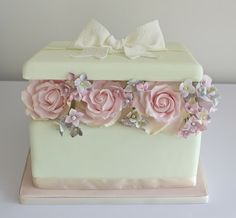 Sugar Ruffles, Elegant Wedding Cakes. Barrow in Furness and the Lake District, Cumbria: Box of flowers cake