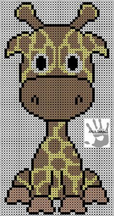 Giraffe baby You are in the right place about baby decke sitricken Here we offer you the most beauti Perler Beads, Perler Bead Art, Fuse Beads, Hama Beads Patterns, Loom Patterns, Beading Patterns, Cross Stitch Patterns, Crochet Patterns, Pixel Crochet