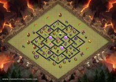 TH 8 Hybrid Layout Townhall 8 War Base Clash of Clans Layout created by Martichamp. Try it out in the attack simulator, see previous attacks or modify it with the base builder