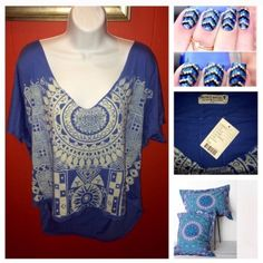 FreePeople•Henna Inspired S\M Trendy.Oversized.Slouchy.Made in USA.100%cotton. Mannequin also available..checkout my Closet Urban Outfitters Tops