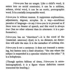 Roland Barthes. A Lover's Discourse.