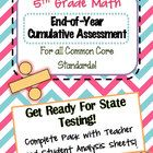 Great benchmark test for the beginning of the year or Test Prep: Formatted like State Assessments to help prepare students for state testing. 5th Grade Math, Fifth Grade, Math Assessment, Fun Math Games, End Of Year, Test Prep, 5th Grades, Math Lessons, Mathematics