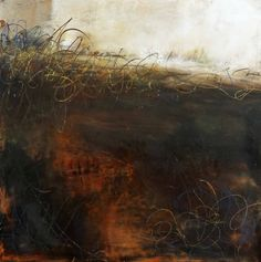 """""""Whispers from the Past"""" Lisa B. Boardwine Oil/Cold Wax"""