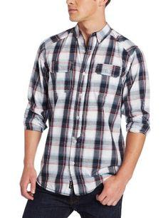 e6745995deb Burnside Men s Preppy Plaid Woven Shirt