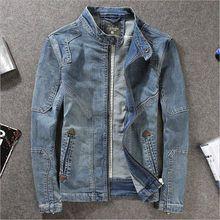 2019 Vintage Mens Retro Denim Jean Jacket Men Retro Coat Outwear US size XS-3XL