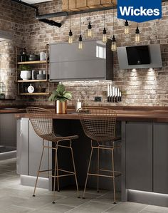 This gorgeous kitchen gives you a modern industrial feel without the grit. Use RAUVISIO brilliant to re-create this look today: http://na.rehau.com/brilliant?utm_content=buffer35922&utm_medium=social&utm_source=pinterest.com&utm_campaign=buffer