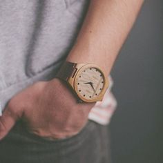 The eco-friendly Flecha Watch from the Sioux City Watch Co. is made from natural materials and sports inspired native patterns.