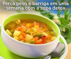 A receita rende quatro porções, com 80 calorias cada uma. - Aprenda a preparar essa maravilhosa receita de Super Sopa Detox