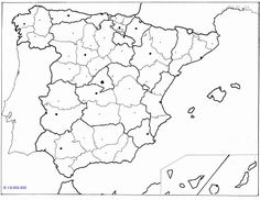 LAMINAS PARA COLOREAR - COLORING PAGES: Mapa de España para imprimir