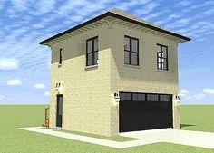 Plan W44111TD: Garage Plan With Upstairs Apartment 505 sq feet