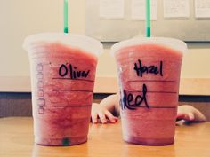 ask the barista to blend a Naked Juice with ice, to make a fun, healthy drink for the kids at Starbucks. love this idea. (: