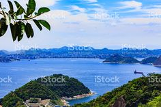 Rio de Janeiro, Brazil - view from mountain royalty-free stock photo Vivid Colors, Colours, Mountain Photos, My Photos, Royalty Free Stock Photos, America, City, Beach, Water