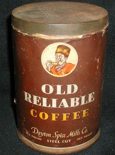Old Reliable Coffee Tin